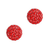 Swarovski Cabochon Pave Flatback / Red / Light Siam 86601