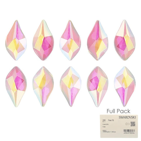 Swarovski 2205 Flame Flatback Rhinestone Factory Pack / Light Rose AB for Nail Art