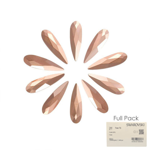 Swarovski Raindrop Flatback Rhinestone Factory Pack / Rose Gold for Nail Art