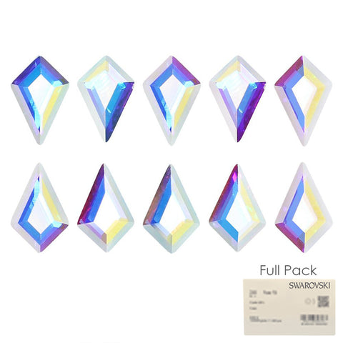 Swarovski Kite Flatback Rhinestone Factory Pack / Crystal AB for Nail Art
