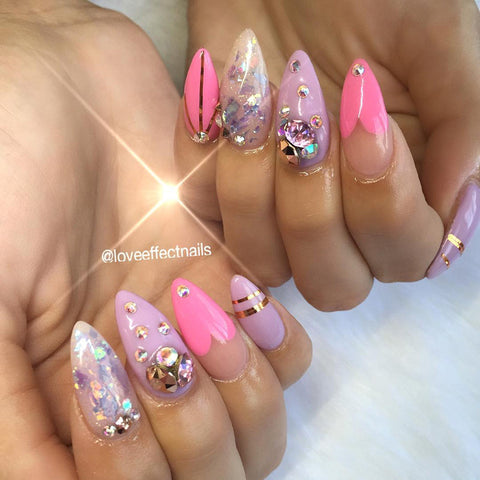 Swarovski Nail Art Chaton Pointed Back Rhinestone / Rose Gold
