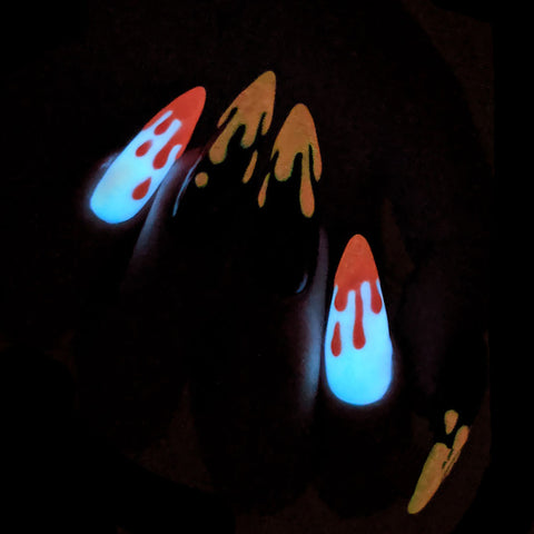 Glow in the Dark Pigment / Neon Red Nail Art Supplies