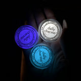 Glow in the Dark Pigment / Blue Glow Halloween Nail Art Supplies