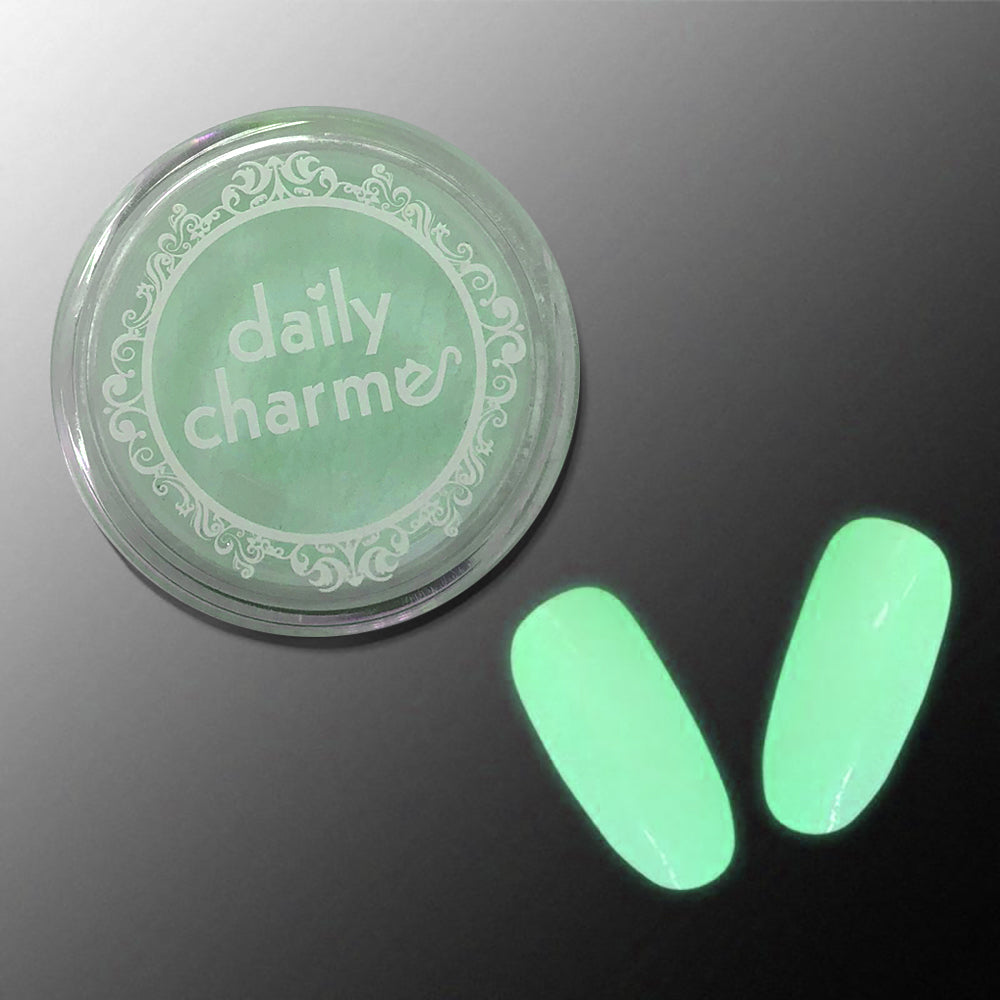 Glow in the Dark Pigment / Green Glow Halloween Nail Art Supplies