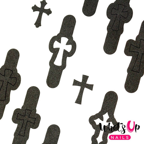 Daily Charme Nail Vinyl Sticker Whats Up Nails / Gothic Stencils
