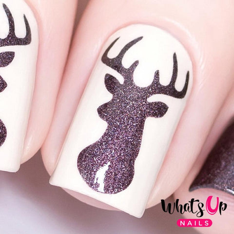 Daily Charme Nail Vinyl Sticker Whats Up Nails / Antler Stencils