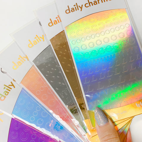 Vinyl Film Sticker / Designer Luxury / Holographic Silver
