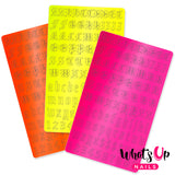 Vinyl Film Sticker / Blackletter Alphabet Old English Font / Neon Pink Orange Yellow
