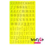 Vinyl Film Sticker / Blackletter Alphabet Old English Font / Neon Trio