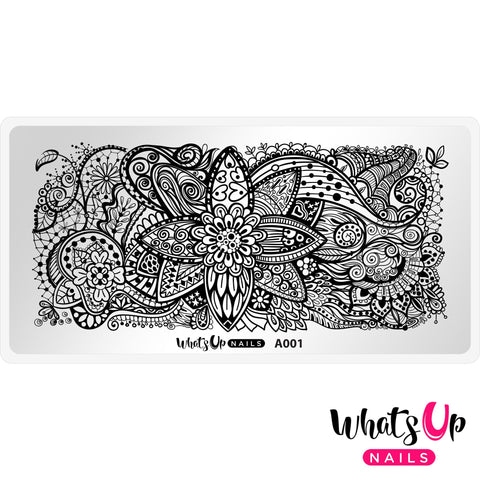Daily Charme Nail Supply Stamping Plates Whats Up Nails / Majestic Flowers