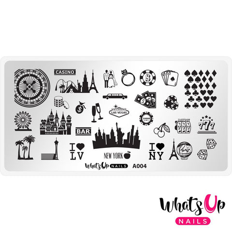 Daily Charme Nail Supply Stamping Plates Whats Up Nails / Sin City Life