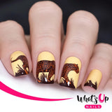 Whats Up Nail Stamping Plate / Amazonian Cuddlers Animal Print Leopard