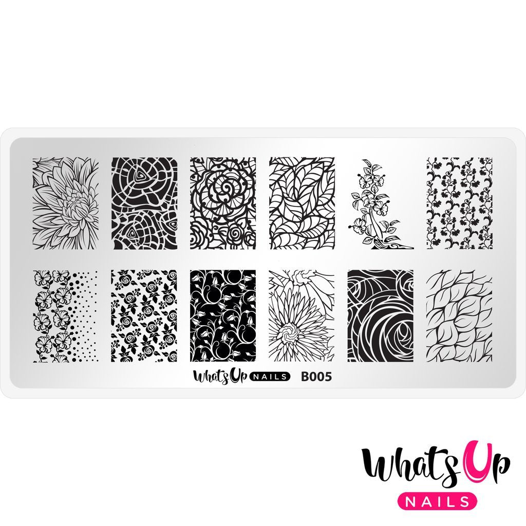 Daily Charme Nail Supply Stamping Plates Whats Up Nails / Nature