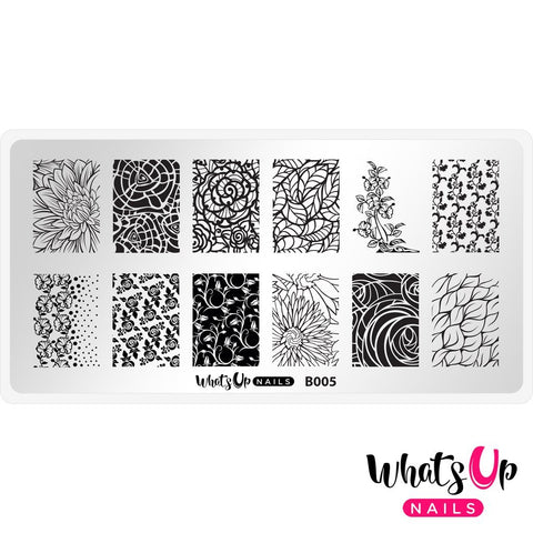 Daily Charme Nail Supply Stamping Plates Whats Up Nails / Nature's Beauty Garden