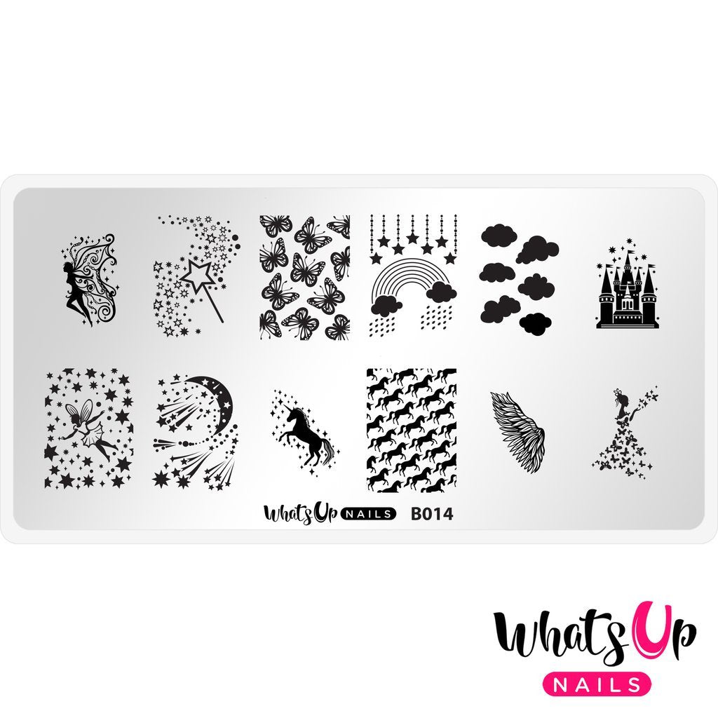 Daily Charme Nail Supply Stamping Plates Whats Up Nails / Magical Playground