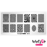 Whats Up Nails / Hypnotic Illusions Nail Stamping Plate