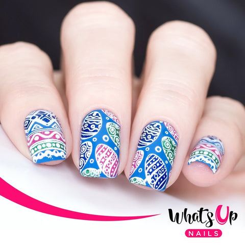 What's Up Nails Metal Stamping Plates daily charme Solo nails Nail Art Supplies Spring Elation St.Patrick's Day Spring Easter bunny egg eggs baby chicks tulips birds clovers butterflies cherry blossoms bird birds flower flowers butterfly butterflies lavender four-leaf clover