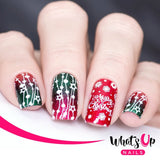 What's Up Nails Metal Stamping Plates daily charme Solo nails Nail Art Supplies winter time christmas december winter happy holiday cute kawaii penguins gingerbread man ferm tree sweater weather cold icy snow rudolph the red nose raindeer evergreen string of lights pattern flannel plaid merry candy can stripes baked goodies enchanted frosty cold frost