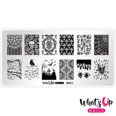 Halloween Stamping Plate Whats Up Nails / Gothic Affection