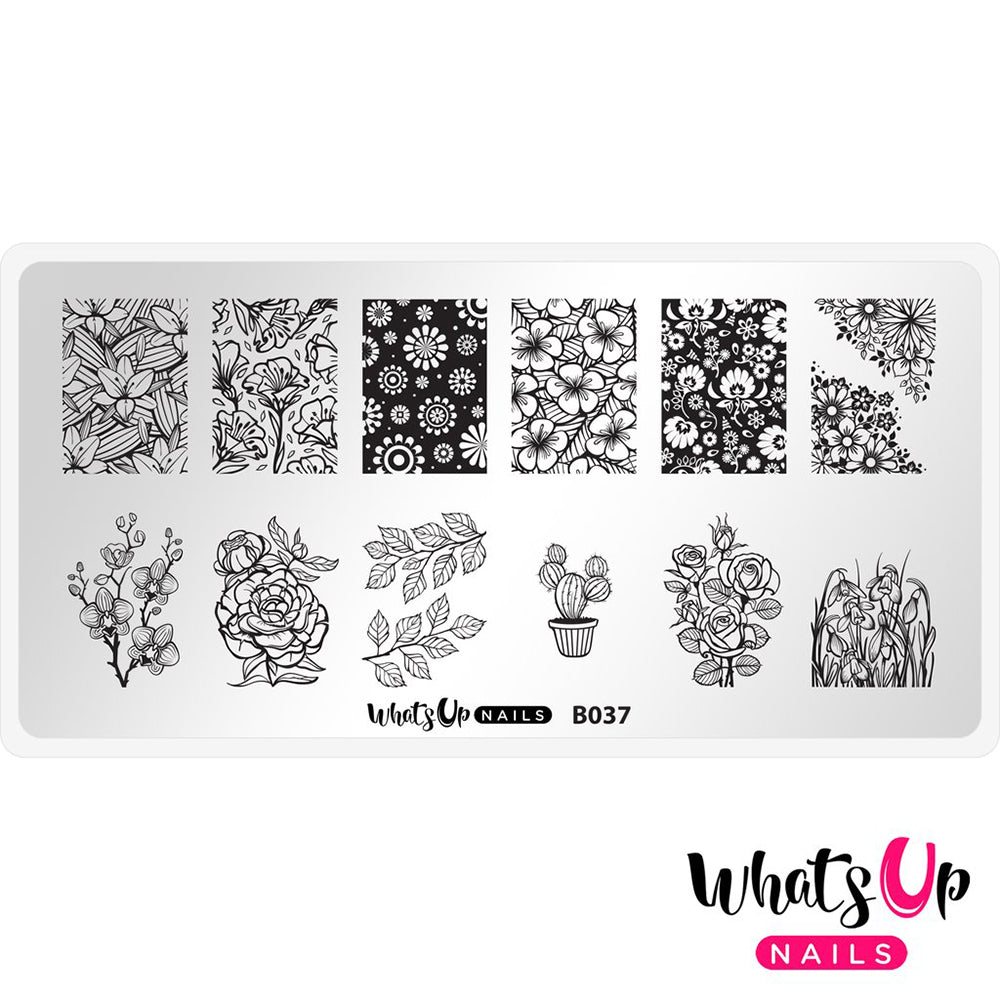 Whats Up Nails / Growing Beauty Nail Stamping Plates Spring Nails Floral Flowers