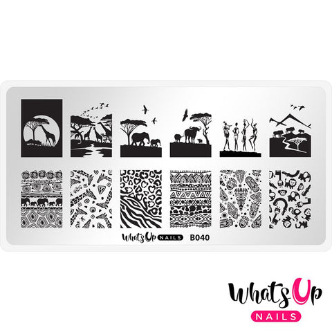 Whats Up Nails / Safari Ride Nail Art Stamping Plates