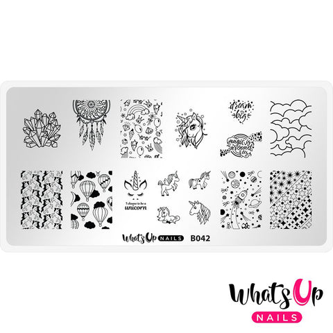 Whats Up Nails / Head in the Clouds Unicorn Dreamcatcher Nail Stamping Plates