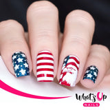 What's Up Nails Metal Stamping Plates daily charme Solo nails Nail Art Supplies Stars and Stripes America American patriot patriotic proud pride fireworks freedom july fourth fourth of july independence day celebrating festive free red white blue flag star spangled statue of liberty bbq grillout