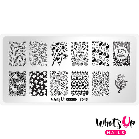 Whats Up Nails / Sprung on Spring Easter Mother's Day Stamping Plate Art