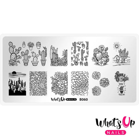Daily Charme Nail Stamping Plates Whats Up Nails / Deserted Succulent