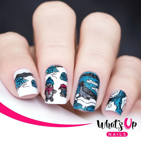 Whats Up Nails / Winter Flurryland Stamping Plate Holiday Christmas