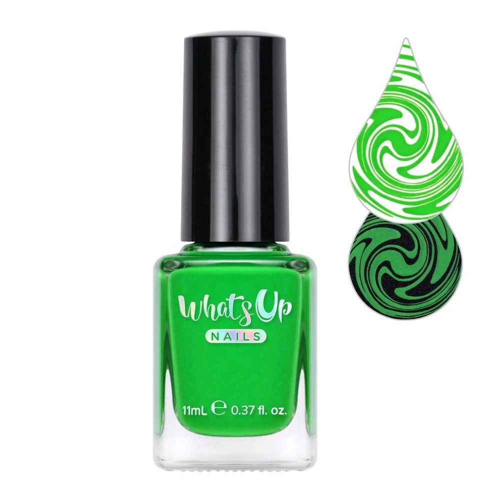 Whats Up Nails / Nip it in the Bud Stamping Polish Lime Green DIY Nail