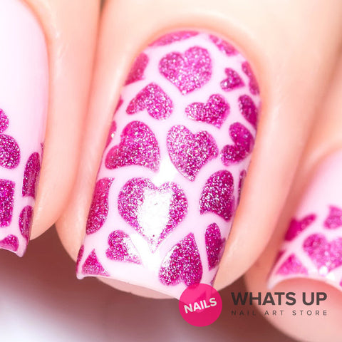 Daily Charme Nail Art Supply Nail Vinyls Sticker Stencil Whats Up Nails / Hearts Stickers & Stencils