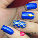 Daily Charme Nail Art Supply Nail Vinyls Sticker Stencil Whats Up Nails / Fishnet Stencils