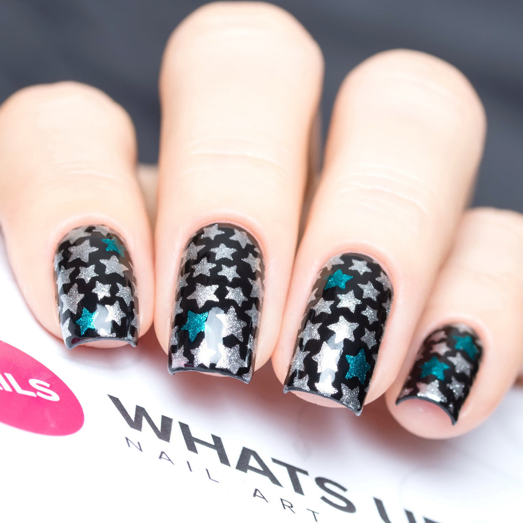 Daily Charme Nail Art Supply Nail Vinyls Sticker Stencil Whats Up Nails / Stars Stickers & Stencils
