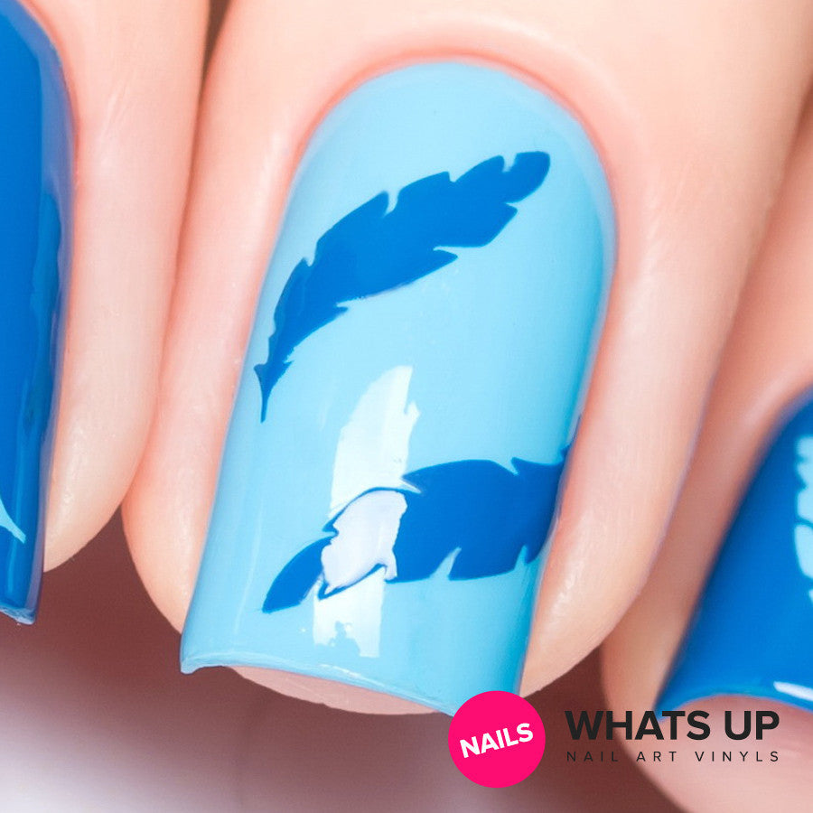 Daily Charme Nail Art Supply Nail Vinyls Sticker Stencil Whats Up Nails / Feather Stickers & Stencils