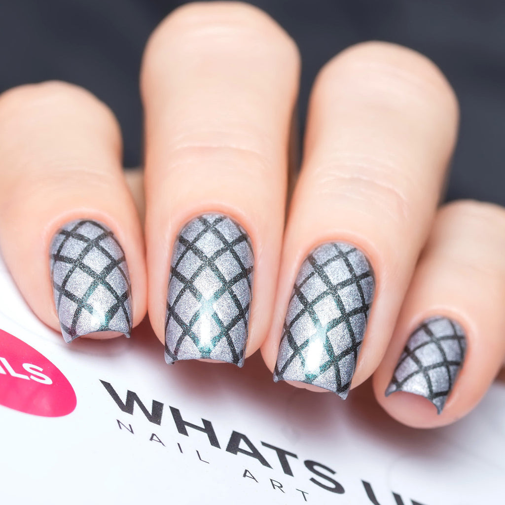 Whats Up Nails / Diamond Pattern Stencils – Daily Charme