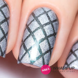 Daily Charme Nail Art Supply Nail Vinyls Sticker Stencil Whats Up Nails / Diamond Pattern Stencils