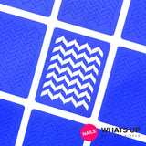 Daily Charme Nail Art Supply Nail Vinyls Sticker Stencil Whats Up Nails / Marbled Zig Zag Stencils