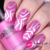 Daily Charme Nail Art Supply Nail Vinyls Sticker Stencil Whats Up Nails / Skinny Chevron Tape