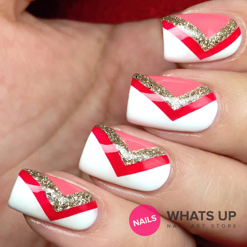 Daily Charme Nail Art Supply Nail Vinyls Sticker Stencil Whats Up Nails / Regular Chevron Tape