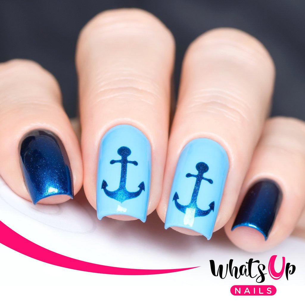 Daily Charme Nail Art Supply Nail Vinyls Sticker Stencil Whats Up Nails / Anchor Stickers & Stencils