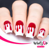 Whats Up Nails / Dripping Stencils Vinyl Daily Charme Nail Art Supply Nail Vinyls Sticker Stencil Whats Up Nails / Dripping Stencils