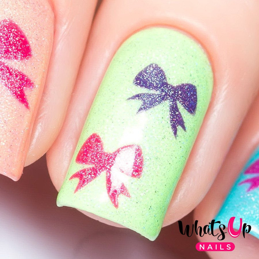 Whats Up Nails / Bow Stickers & Stencils