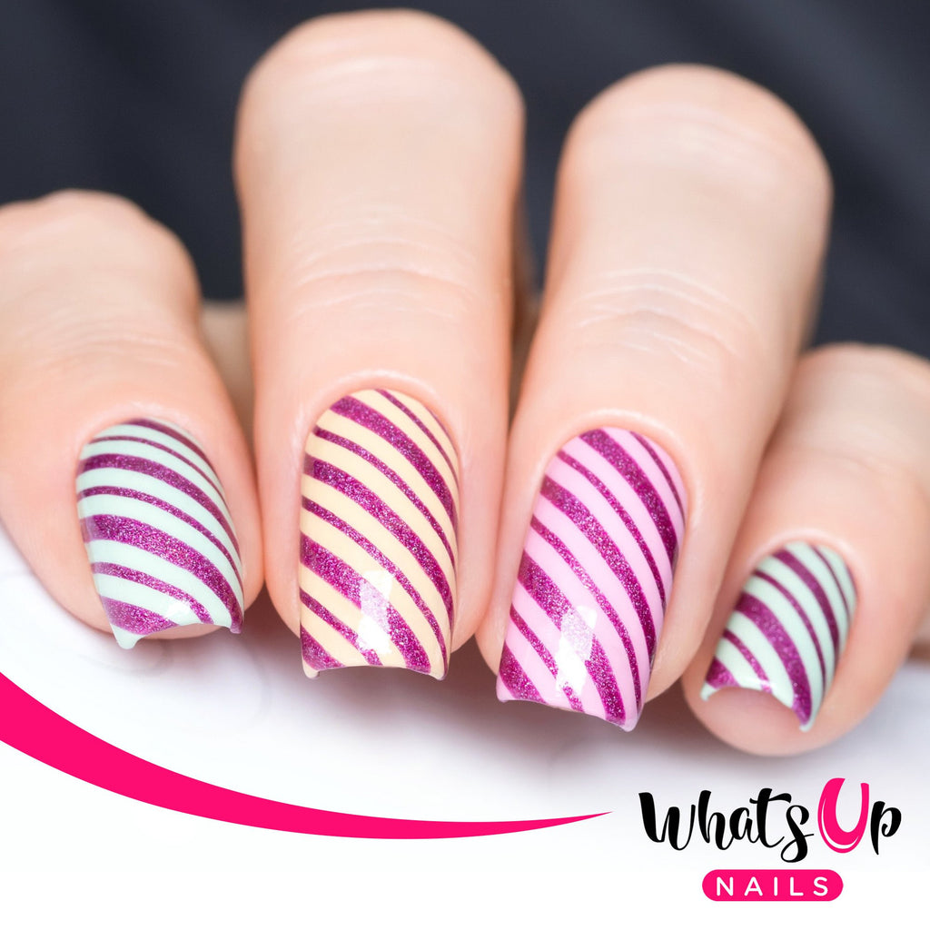 Daily Charme Nail Art Supply Nail Vinyls Sticker Stencil Whats Up Nails / Wrapping Paper Stencils