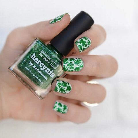 Whats Up Nails / Tropical Leaves Stickers & Stencils