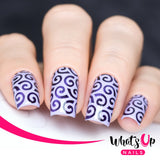 Whats Up Nails / Swirls Pattern Stencils