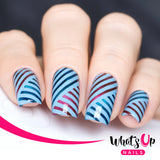 Whats Up Nails / Slanted Lines Stencils