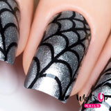 Daily Charme Nail Art Supply Nail Vinyls Sticker Stencil Whats Up Nails / Spider Web Stencils