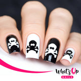 Daily Charme Nail Art Supply Nail Vinyls Sticker Stencil Whats Up Nails / Skull Stickers & Stencils