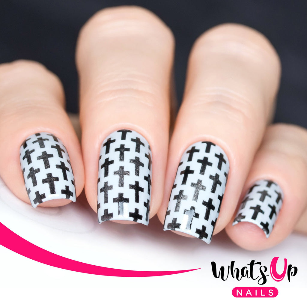 Daily Charme Nail Art Supply Nail Vinyls Sticker Stencil Whats Up Nails / Crosses Stickers & Stencils